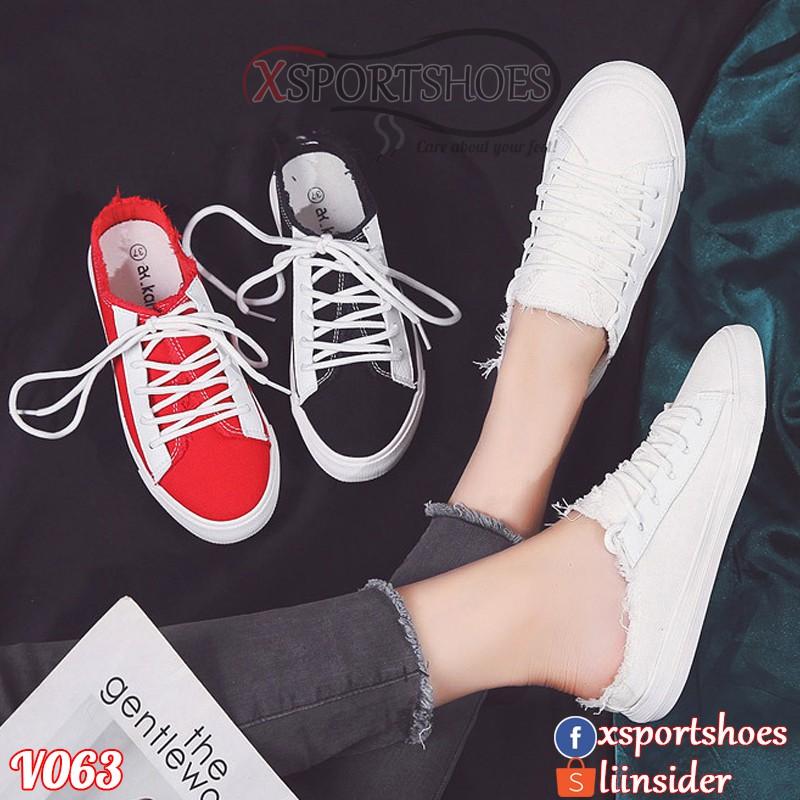 Giày Ulzzang không gót Hàn Quốc V063 - Giày sục tiểu bạch thoáng khí hot 2018 (Đen - Đỏ - Trắng) - 2407607 , 1232699324 , 322_1232699324 , 400000 , Giay-Ulzzang-khong-got-Han-Quoc-V063-Giay-suc-tieu-bach-thoang-khi-hot-2018-Den-Do-Trang-322_1232699324 , shopee.vn , Giày Ulzzang không gót Hàn Quốc V063 - Giày sục tiểu bạch thoáng khí hot 2018 (Đen