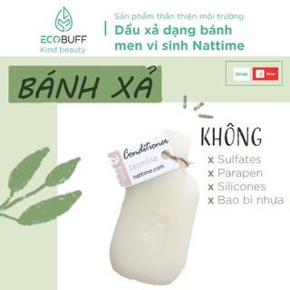 Dầu xả thiên nhiên lành tính làm mềm tóc dạng bánh Nattime phục hồi hư tổn chiết xuất bơ shea B5 - Handmade | Ecobuff