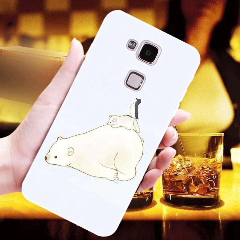 For Huawei Mate 7 Non-slip cute TPU phone case