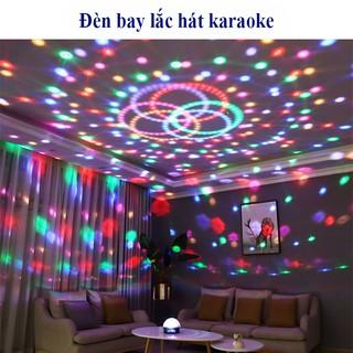 Đèn CẢM BIẾN NHẠC xoay 360 độ để trang trí sân khấu, phòng hát karaoke sàn bar, đèn nháy theo nhạc