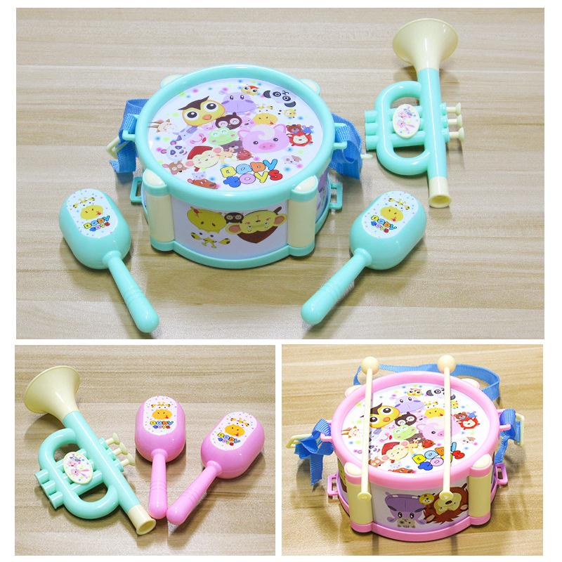 Baby Boy girl Colorful Mini Musical Jazz Drums toy Baby patting drum Toys
