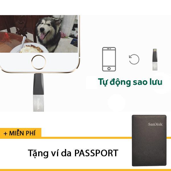 [Tặng ví da] Usb cho điện thoại iPhone 16GB SanDisk iXpand IX40N