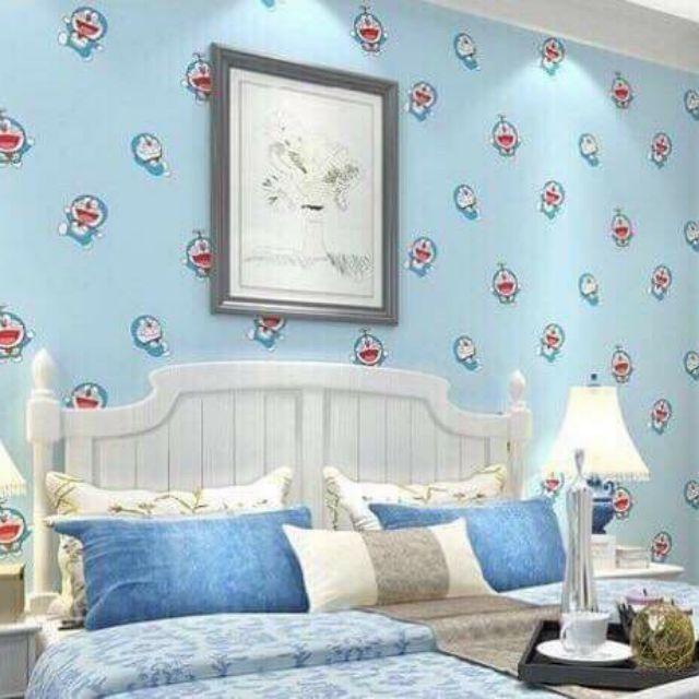 10m giấy dán tường Doraemon xanh ngọc