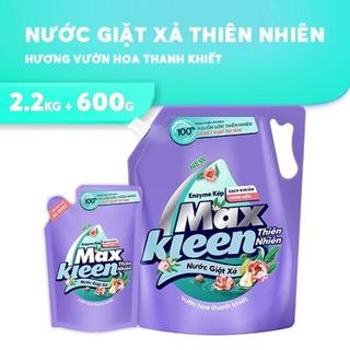 compo nước giặt xả maxkleen thiên nhiên 2,2kg+ túi 600ml vườn hoa tình khiết