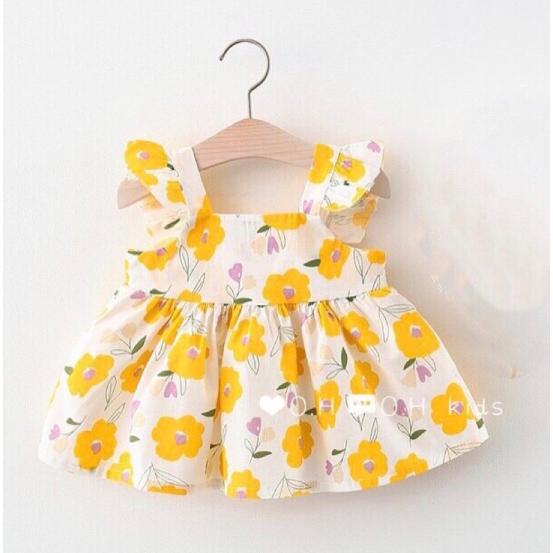Váy thô đũi cánh tiên cho bé- ( ,12-14kg,14-16kg) hoa vàng