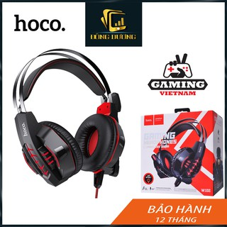 Tai nghe Gaming Hoco W102 SẢN PHẨM MỚI có mic đàm thoại bass mạnh âm thanh sống động