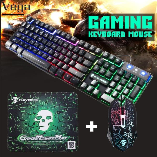 Bộ bàn phím và chuột có đèn màu sắc cầu vồng cho PC , Laptop
