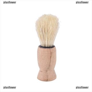 Plusflower 1x pro wood handle badger hair beard shaving brush for men mustache barber tool