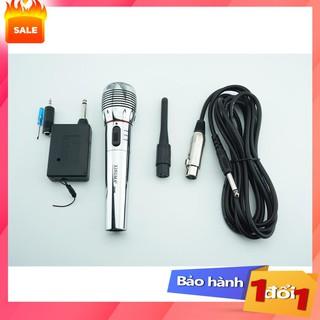 ✔️ Mic hát karaoke không dây,Mic không dây kết hợp có dây,thiết bị âm thanh gia đình