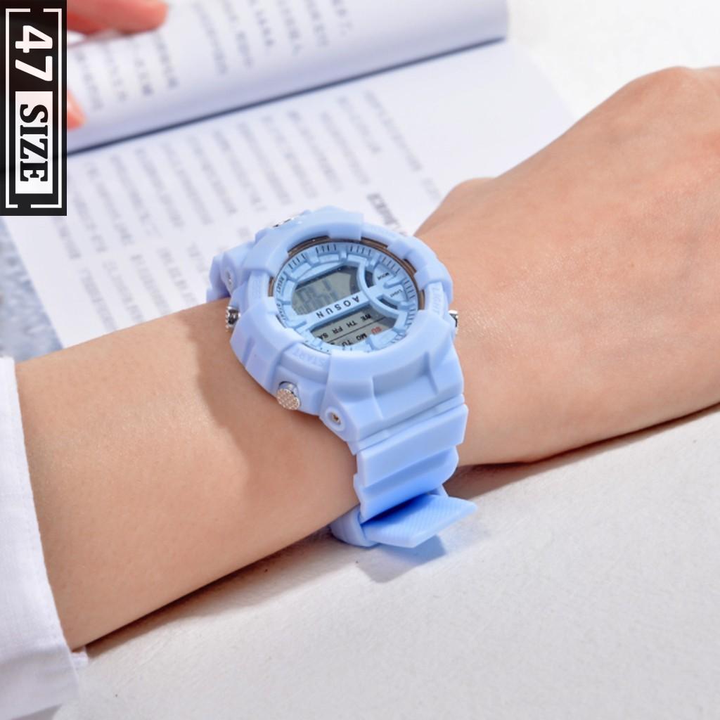 Đồng hồ điện tử sports thời trang nam nữ unisex, dây silicon cao cấp, full chức năng