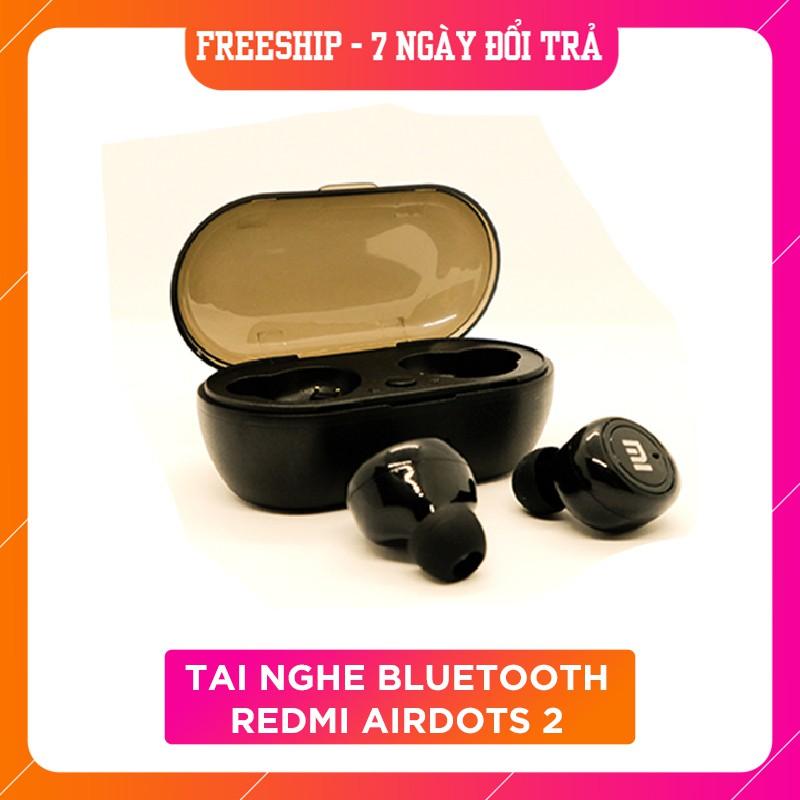 Tai nghe Bluetooth  Redmi Airdots 2 - Đen True Wireless Công Nghệ 5.0 Kèm Đốc Sạc ,Cảm Biến Tự Động Kết Nối, BH 6 tháng