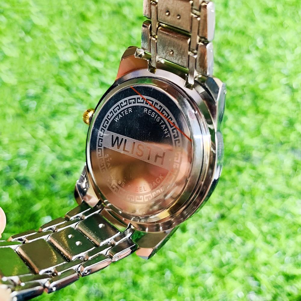 Đồng hồ Nam WLISTH 1853 máy Nhật chống nước mặt đính đá dạ quang DÂY THÉP KHÔNG GỈ CAO CẤP (FULL HỘP)