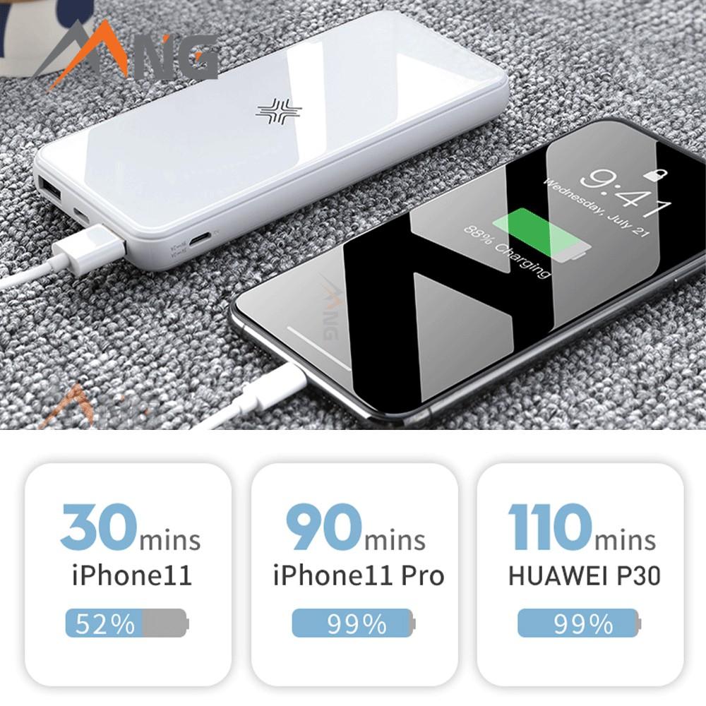 [Mã ELMALL5 giảm 5% đơn 500K] Pin dự phòng không dây Rockspace P62 sạc nhanh chuẩn PD 10.000mAh cho iphone