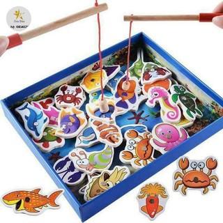 [SALE SIÊU HOT] Bộ câu cá gỗ sinh vật biển 32 con