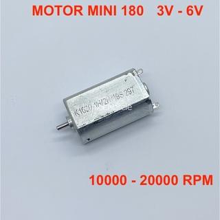 Motor mini 180 điện áp 3V – 6V tốc độ 10000 – 20000 RPM – LK0151