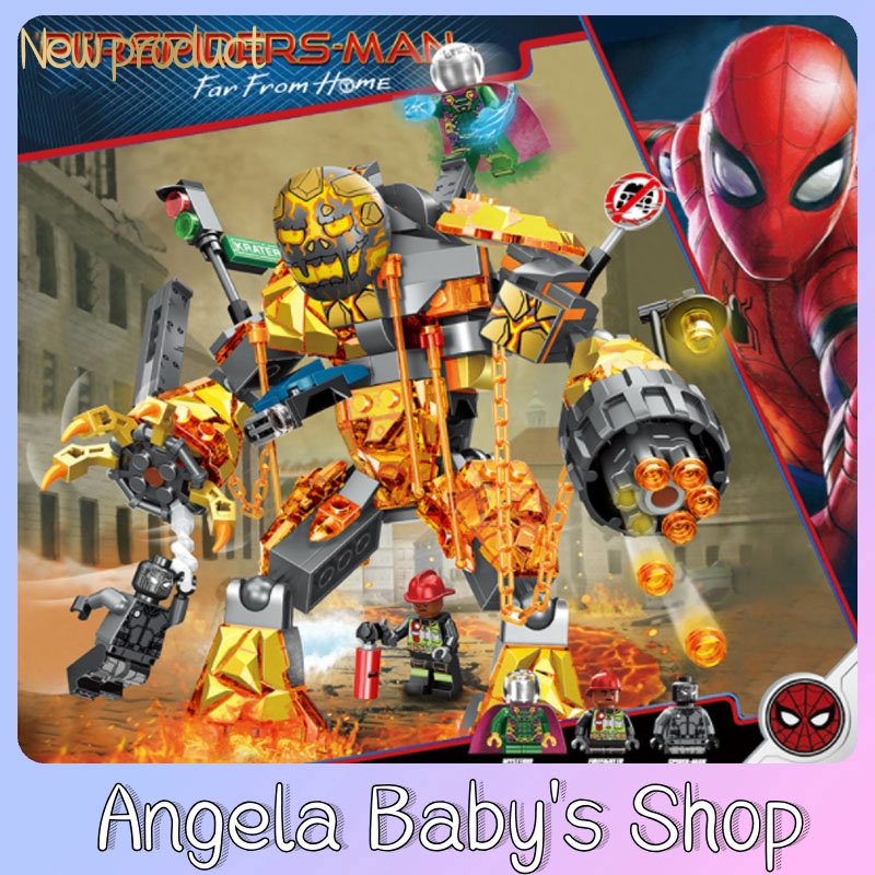 Spider-Man 2 Hero Expedition Fire-Bell Battle Compatible Lego Superhero Kids Puzzle Assembly Building Block Gift Prize