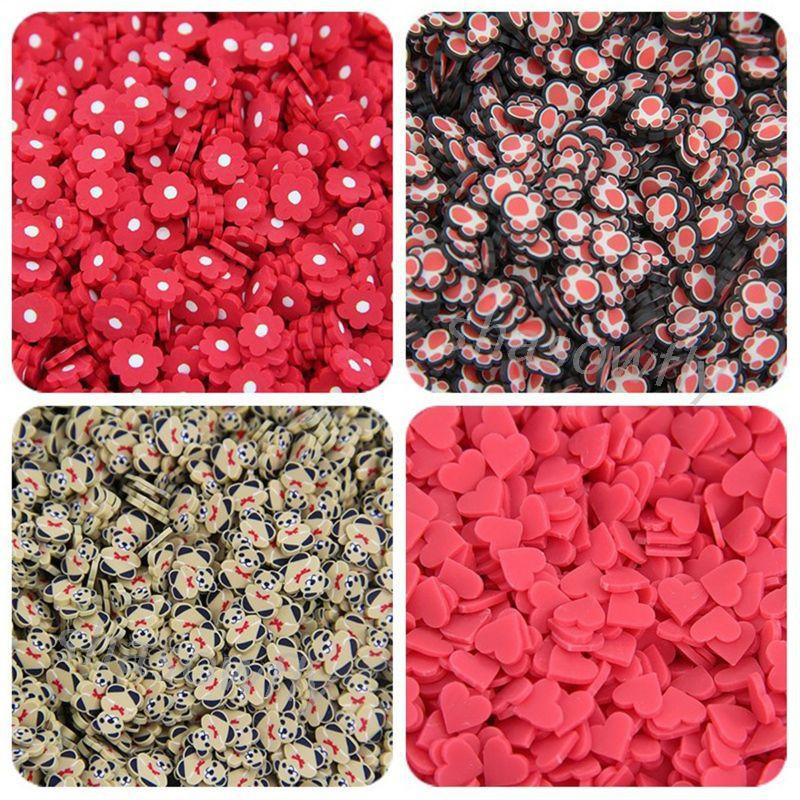 SHAS Slime Slices Additives Soft Slices for Nail Art Beauty Decor Slime Filler Supplies Charms Accessories Toys
