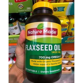 300v / Dầu Hạt Lanh Flaxseed Oil 1400mg, Mỹ