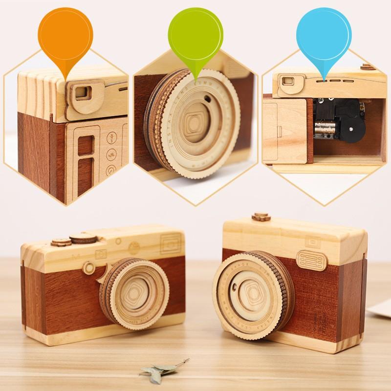 Hộp nhạc máy ảnh phát nhạc làm quà lưu niệm