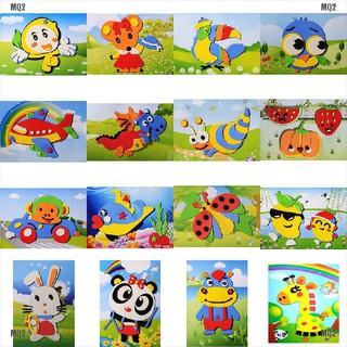 [MQ2]1 Pcs DIY Cartoon Animal 3D EVA Foam Sticker Puzzle Toys for Kids Styles Random
