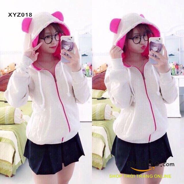 Áo khoác nỉ tai gấu siêu cute  - XYZ018