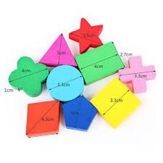Bộ 3 bảng gỗ hình học cho bé 1154 , đồ chơi cho bé, đồ chơi toán học, bộ học tập, bảng xếp hình, khối gỗ hình học CH45