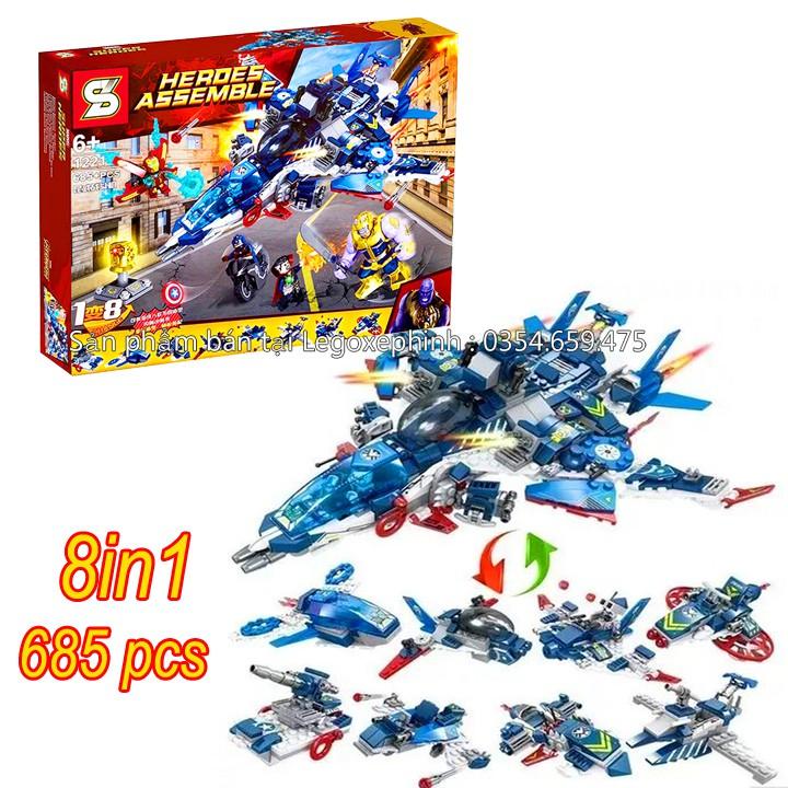Bộ Lego Xếp Hình Ninjago Biệt Đội Siêu Anh Hùng (Avengers) . Gồm 685 Chi Tiết . Lego Ninjago Lắp Ráp Đồ Chơi Cho Bé.