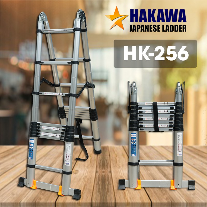 Thang nhôm rút gọn 5m6 Hakawa