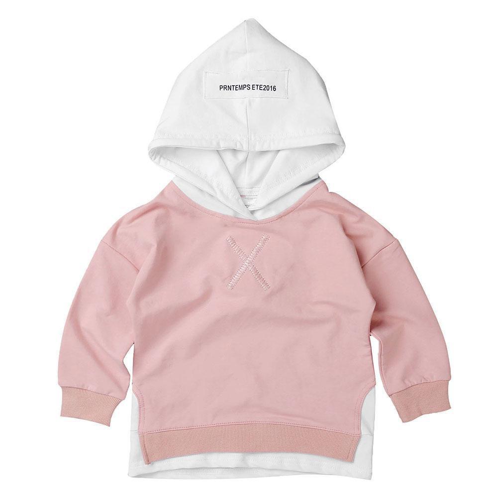 [FAS] Áo hoodie màu hồng nhạt cho bé gái