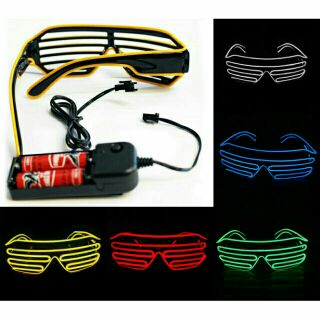 ( Có sẵn ) Mắt kính đèn led phát quang đi bar có 3 chế độ nháy, giá rẻ