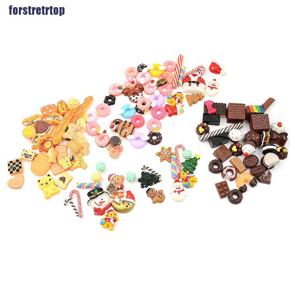 【FSTTTOP】30Pcs 1:12 Dollhouse Miniature Food Home Craft Ornament Doll Dessert