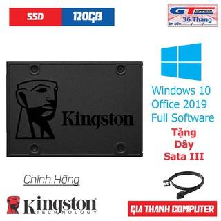 Ổ Cứng SSD 120GB | 240GB Kingston Chính Hãng New Tặng Windows 10 Pro 64bit + Dây SATA III Tốc Độ Cao