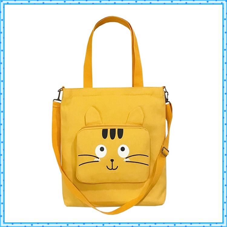Túi tote size đại hộp mặt mèo CÓ ẢNH THẬT