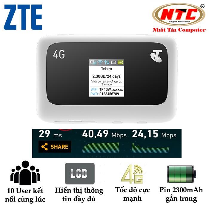 Thiết bị phát sóng wifi từ sim 4G LTE MF910 - Phiên bản Telstra tốc độ cao (Trắng)