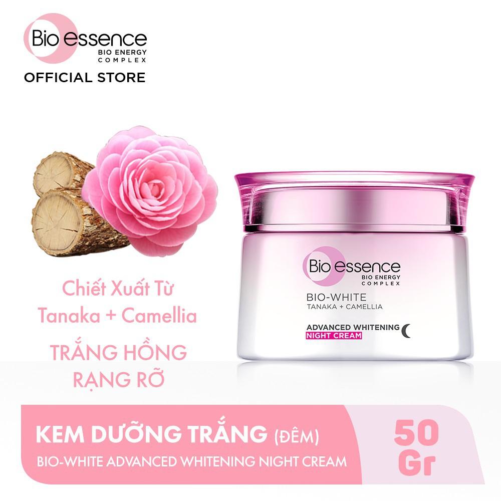 Kem dưỡng trắng chuyên sâu ban đêm Bio White chiết suất Vỏ cây Tanaka và  Hoa Trà Camellia 50g | Shopee Việt Nam