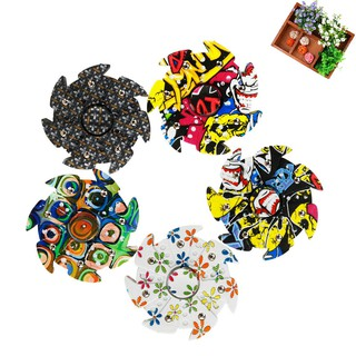 Camouflage Hand Spinner Fidget Finger Ball Bearing ADHD Autism Spin Toy