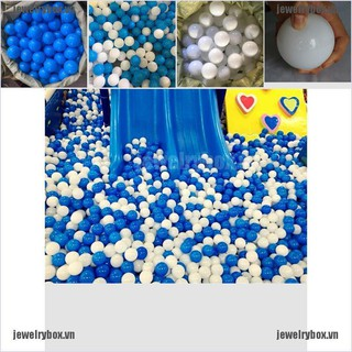 JX 10pcs White Blue Ball Soft Plastic Ocean Ball Funny Baby Kid Swim Pit Toy 7cm[VN]