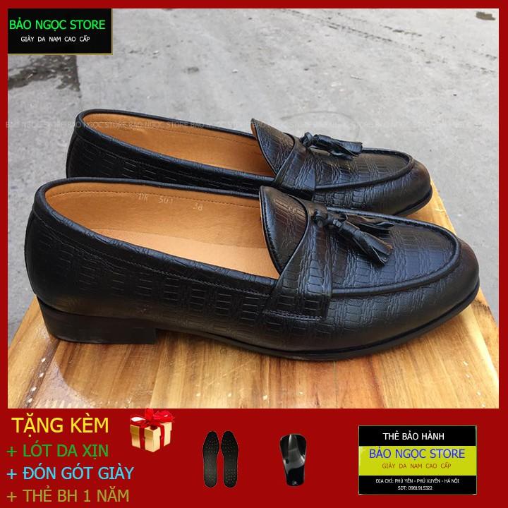 Giày Da Nam - Giày Lười Nam Kiểu Dáng Hàn Quốc - Bảo Hành Da 12 Tháng - Mã K21