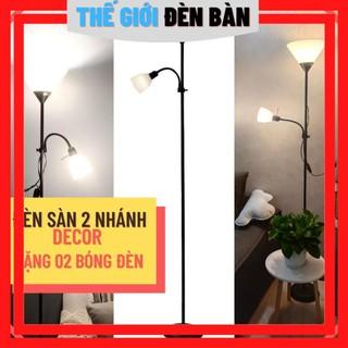 [MÃ BIBO10 giảm 10%] [TẶNG KÈM 02 BÓNG] Đèn cây đứng DECOR 02 nhánh trang trí phòng khách/ phòng ngủ/ cạnh sofa