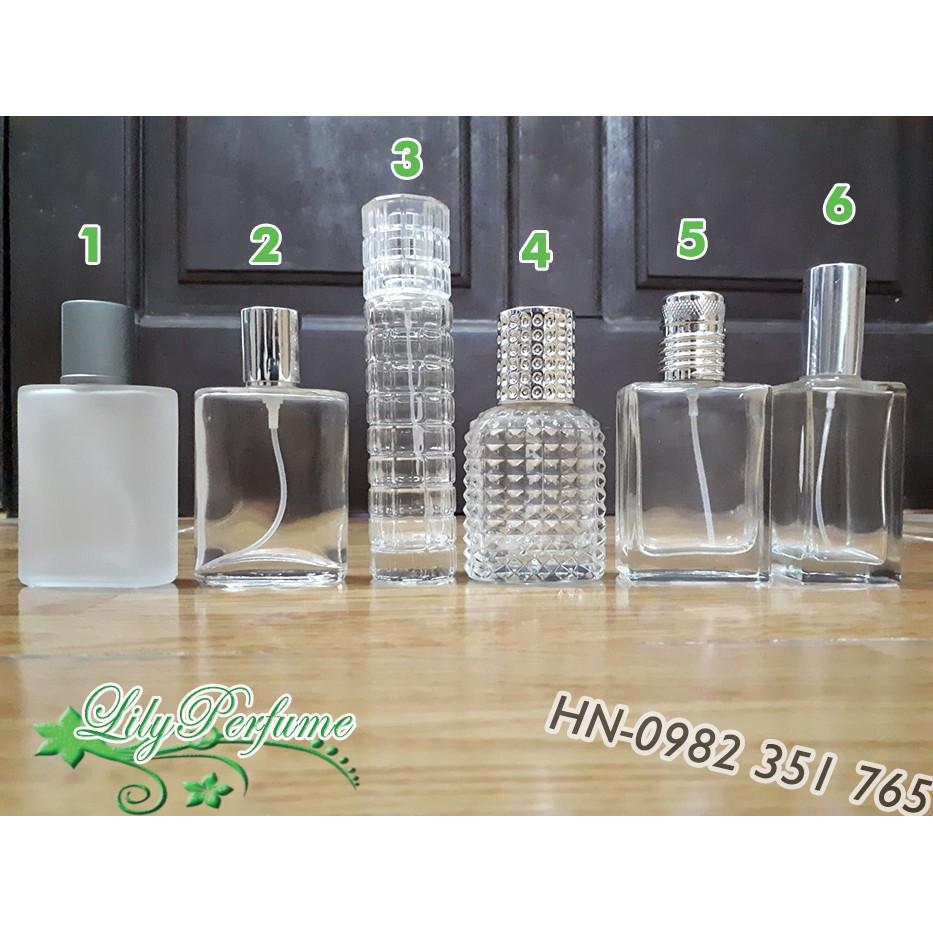 Lọ chiết nước hoa 30ml thủy tinh (Vỏ chiết nước hoa/ Chai chiết nước hoa)