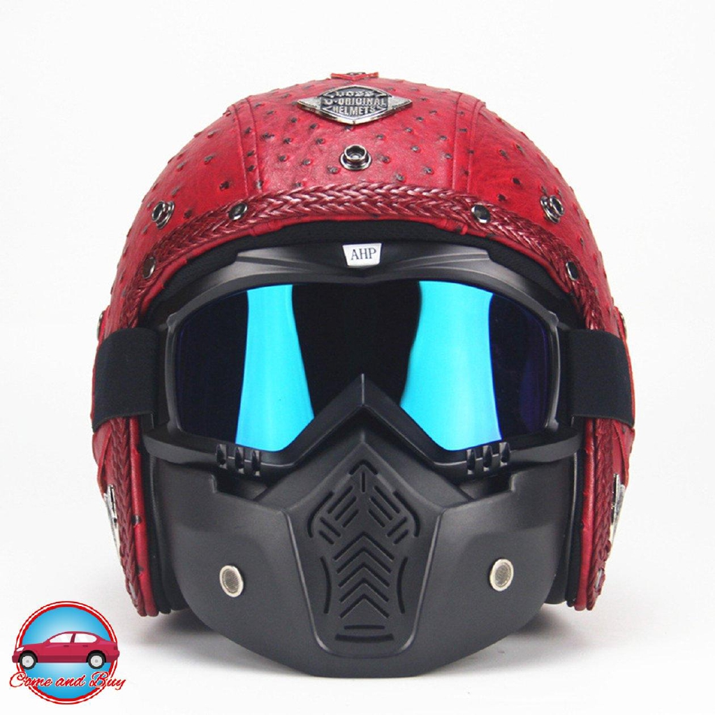 【helmet】Men And Women Retro Helmet Retro Helmet Motorcycle Motor Car Half Helmet