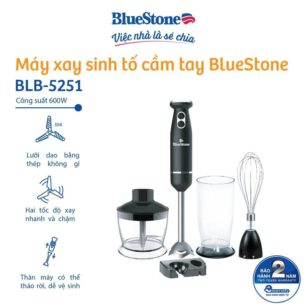 [Mã ELBLUE10 giảm 5% đơn 500k] Máy xay sinh tố cầm tay BlueStone BLB-5251