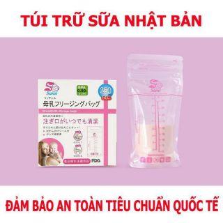 Hộp 50 túi trữ sữa Sami 100ml 150ml 250ml - Nhật Bản thumbnail