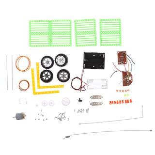 DIY Assembled Remote Control RC Car Science Technology Educational Toy Gifts