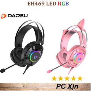 [Mã ELFLASH3 hoàn 10K xu đơn 20K] Tai nghe game DAREU EH469 Pink / Black RGB 7.1 Chính hãng