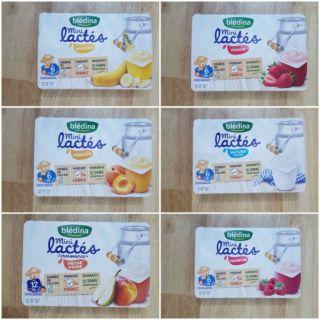 Sữa chua Bledina 6 hộp×55g cho bé từ 6m+
