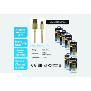 [Nhập ELNEW20K giảm 20K] Cáp Energizer Hightech Micro USB Metallic 1.2m C13UBMCG – Hàng Chính Hãng – BH 24 Tháng