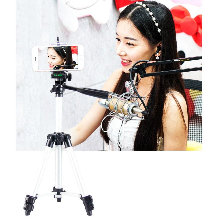 Bộ tripod 3 chân chụp ảnh selfie Hanmi nhôm cao cấp Home and Garden 64cm