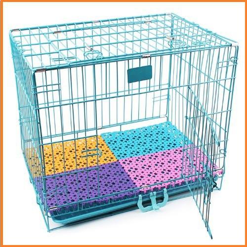Lót sàn chó chống lọt chân Miếng nhựa lót khay vệ sinh lót chuồng mèo lót sàn xe - size 30x20cm (Màu ngẫu nhiên)