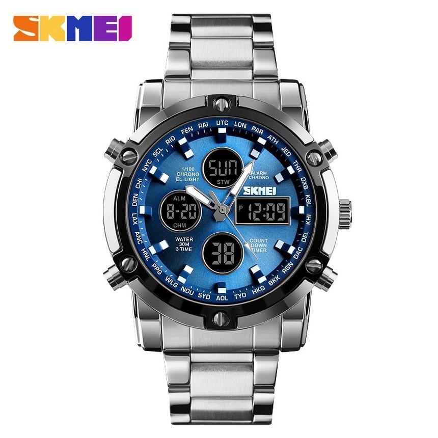 นาฬิกาข้อมือควอตซ์อิเล็กทรอนิกส์ skmei nnm